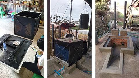 ミャンマー農場 新大型殺菌釜